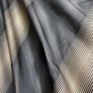 Black And Gold Striped Fabric