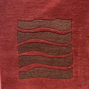 Burgundy And Bronze Sculpted Rug