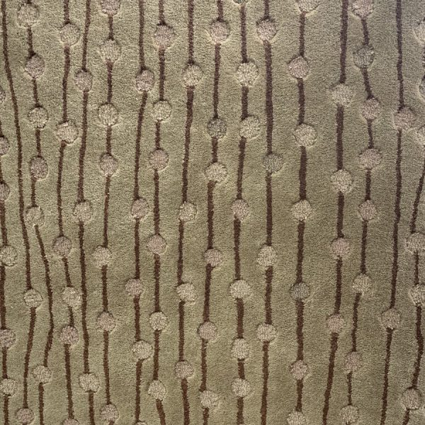 Delicate Cream And Pale Tan Abstract Sculpted Rug