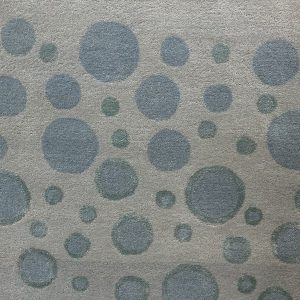 Mint And Aqua Circular Patterned Rug