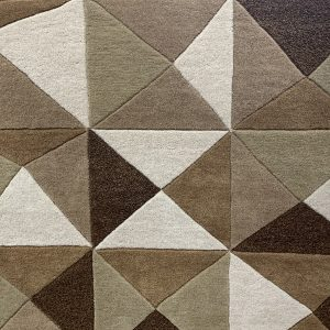 Neutral Palette Of Warm Tones Patterned Rug