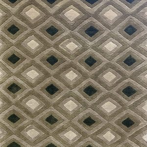 Olive Forest And Caramel Hand Knotted Rug