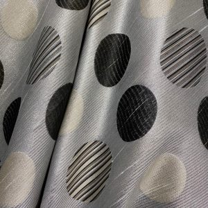 Silver Lurex With Circular Design Fabric