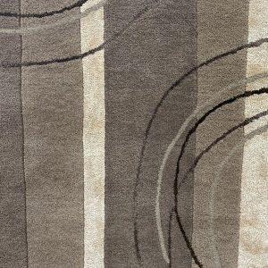 Taupe Chocolate And Cream Patterned Rug