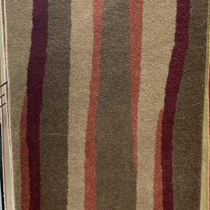 Terracotta Burgundy And Taupe Patterned Rug