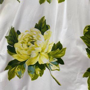 Designers Guild Charlottenberg Lemon Green White Fabric