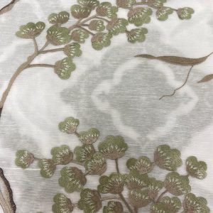 Magnolia Voile Fabric Green