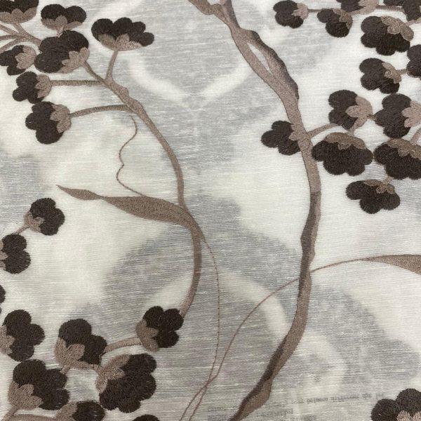 Magnolia Voile fabric Brown