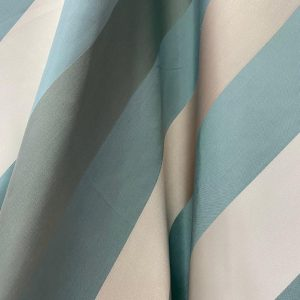 Mint And Cream Striped Fabric