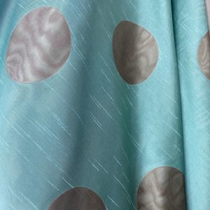 Mint Green And Caramel Sheer Fabric